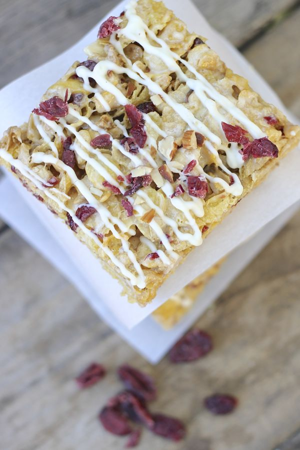 Cranberry Almond Brown Butter Cereal Bars