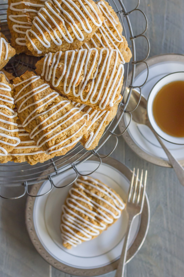 Iced Gingerbread Oat Scones - so simple to make and just the right amount of spice!