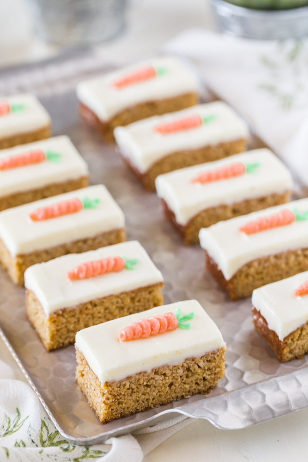Carrot Cake Cream Cheese Bars