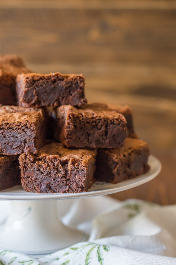Extra Thick Fudgy Homemade Brownies - Let me convince you that homemade brownies are better than boxed!