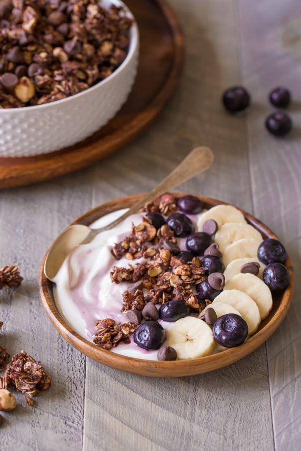 Chocolate Hazelnut Granola Yogurt Bowl-1