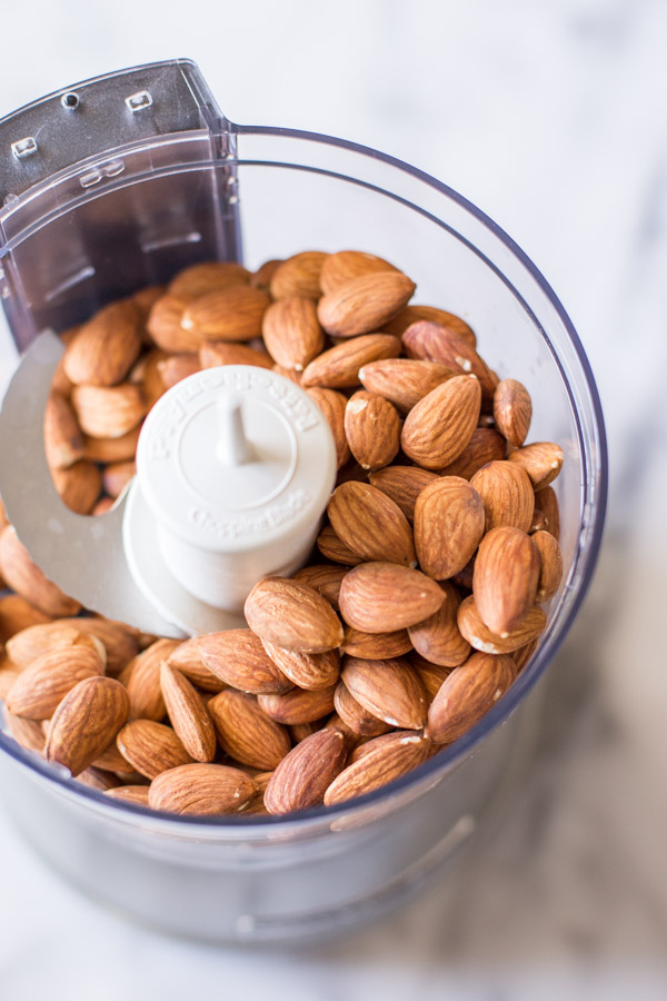 How to make the smoothest, creamiest homemade almond butter, step by step!